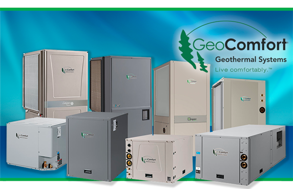 Geocomfort Geothermal equipment sold and installed by Air Comfort, Cedar Rapids.